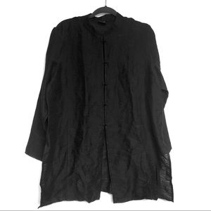 Eileen Fisher Asian Style Button Up Tunic Linen
